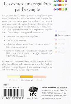 Livres Couvertures de Les expressions régulières par l'exemple