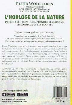 Livres Couvertures de L'horloge de la nature: Prévoir le temps, comprendre les saisons, comprendre les animaux et les plantes