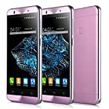 Wogiz® Unlocked Quad Core ROM 8 GB RAM 1GB MTK6580 5 3G Android Cellphone 8.0 MP GSM Dual SIM (Pink)