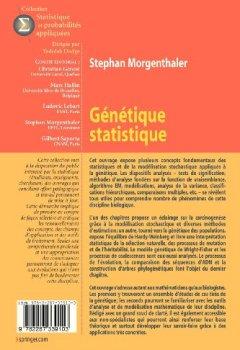 Livres Couvertures de Génétique statistique