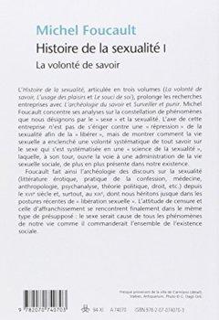 Livres Couvertures de Histoire de la sexualité, tome 1 : La Volonté de savoir