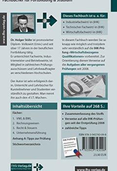 Abdeckungen Wirtschaftsbezogene Qualifikationen: Prüfungsvorbereitung für Industriefachwirte, Technische Fachwirte und Wirtschaftsfachwirte (Fachbücher für Fortbildung & Studium)