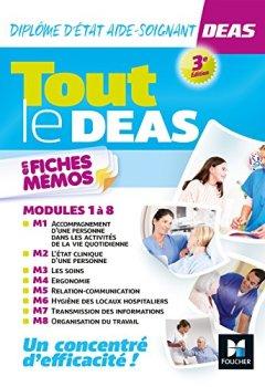 Livres Couvertures de Tout le DEAS en fiches mémos - IFAS - Diplôme Etat Aide-soignant - 3e éd - Révision