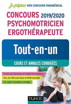 Livres Couvertures de Concours 2019/2020 Psychomotricien Ergothérapeute - Tout-en-un - Cours et annales corrigées