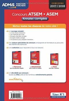 Livres Couvertures de Concours ATSEM et ASEM - Catégorie C - Annales corrigées - Concours 2017-2018