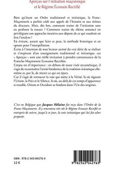 Livres Couvertures de Aperçus sur l'initiation maçonnique et le Régime Ecossais Rectifié