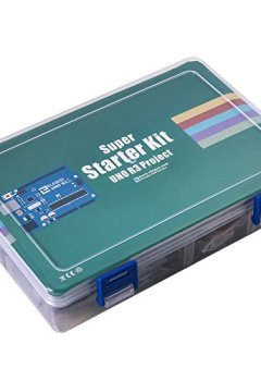 Livres Couvertures de Elegoo Super Starter Kit avec Guide d'Utilisation Français, 5V Relai, UNO R3, Module d'Alimentation, Servo Motor, 9V Batterie avec DC, Carte d'Expansion, etc. Pour Arduino