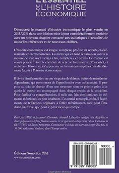 Livres Couvertures de L'essentiel de l'histoire économique: Édition 2017