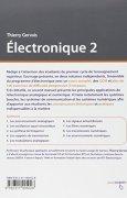 Livres Couvertures de Électronique 2 - Systèmes bouclés, de communication et numériques