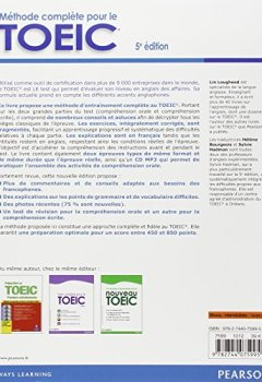 Livres Couvertures de Méthode complète pour le TOEIC : la méthode de référence avec 2 tests blancs corrigés + CD MP3