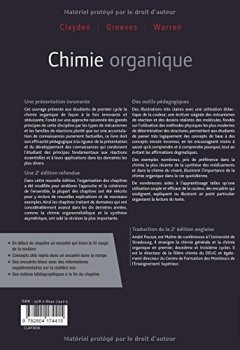 Livres Couvertures de Chimie organique