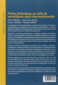 Livres Couvertures de Fiches techniques en salle de surveillance post-interventionnelle: Surveillance anesthésique