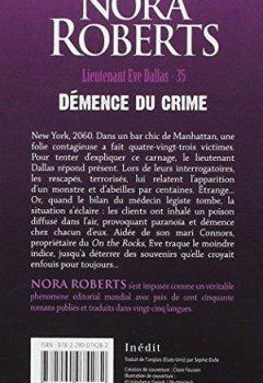 Livres Couvertures de Lieutenant Eve Dallas, Tome 35 : Démence du crime