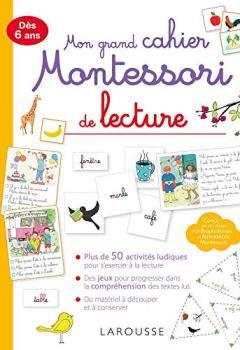 Livres Couvertures de Mon grand cahier Montessori de lecture