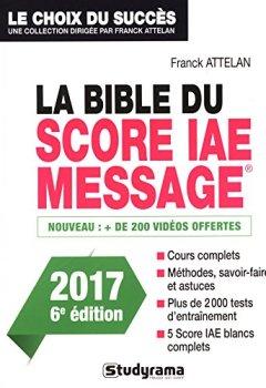 Livres Couvertures de La Bible du Score IAE Message - 6e édition 2017
