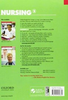 Livres Couvertures de Oxford English for Careers: Nursing 2: Student's Book