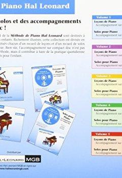 Livres Couvertures de Leçons de Piano Volume 1