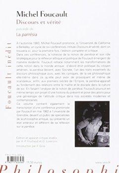 Livres Couvertures de Discours et vérité précédé de la Parresia