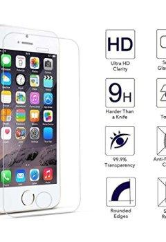 Livres Couvertures de Tenmangu Verre Trempé écran Protecteur Ultra Résistant pour iPhone SE/5S/5C/5, Lot de 2
