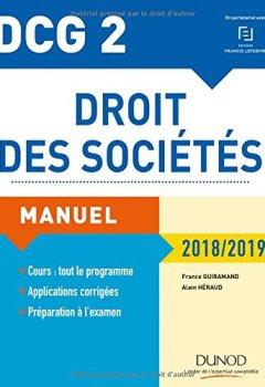 Livres Couvertures de DCG 2 - Droit des sociétés 2018/2019 - Manuel