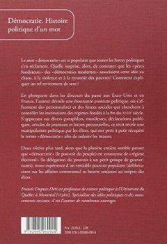 Livres Couvertures de Démocratie : Histoire politique d'un mot aux Etats-Unis et en France