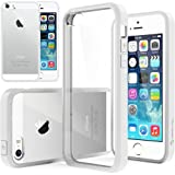 iPhone 5S case, Caseology® [Clear back Bumper] [White] DIY Customization Fusion Hybrid Cover [Shock Absorbent] Apple iPhone 5S case