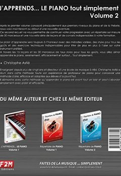Livres Couvertures de J'apprends... LE PIANO tout simplement Vol.2 C. Astie + CD