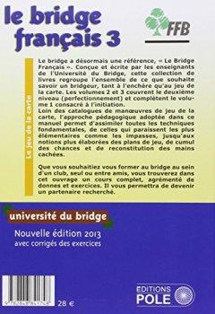 Livres Couvertures de Le bridge français : Tome 3, perfectionnement, jeu de la carte