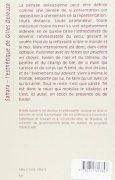 Livres Couvertures de Sahara : L'esthétique de Gilles Deleuze
