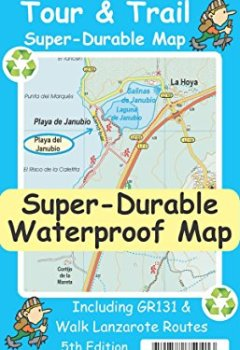 Livres Couvertures de Lanzarote Tour & Trail Super-Durable Map