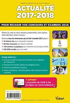 Livres Couvertures de Actualité 2017-2018 - Concours et examens 2018 - Tous les événements incontournables
