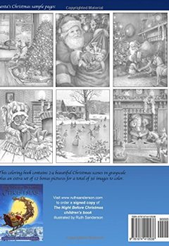 Livres Couvertures de Santa's Christmas: Grayscale Adult Coloring Book
