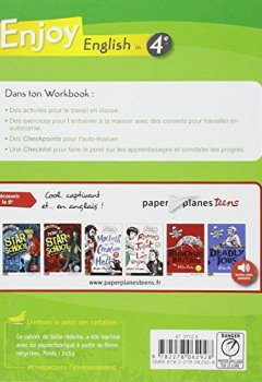 Livres Couvertures de Enjoy English in 4e Palier 2 1e année A2-B1 : Workbook
