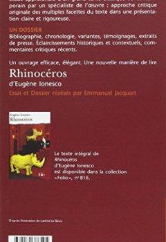 Livres Couvertures de Rhinocéros d'Eugène Ionesco (Essai et dossier)