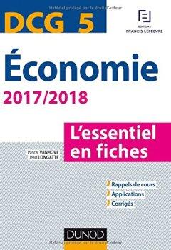 Livres Couvertures de DCG 5 - Economie 2017/2018 - L'essentiel en fiches
