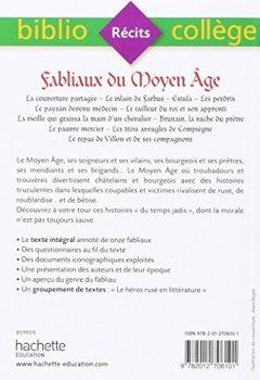 Livres Couvertures de Bibliocollège - Fabliaux du Moyen Âge