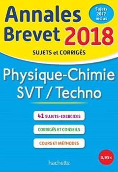 Livres Couvertures de Annales Brevet 2018 Physique-Chimie-SVT