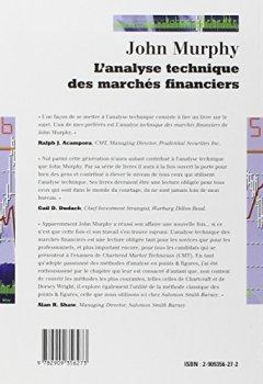 Livres Couvertures de L'analyse technique des marchés financiers