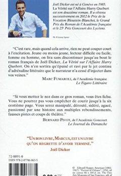 Livres Couvertures de La vérité sur l'Affaire Harry Quebert - Prix Goncourt des lycéens 2012 et Grand Prix du Roman de l'Académie française 2012