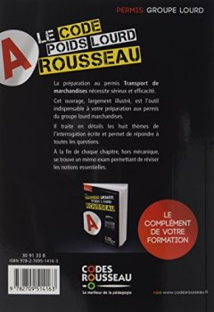 Livres Couvertures de Code Rousseau poids lourd 2017