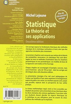 Livres Couvertures de Statistique, La théorie et ses applications