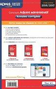 Livres Couvertures de Concours Adjoint administratif - Catégorie C - Annales corrigées - Entraînement - État et territorial - Concours 2016-2017