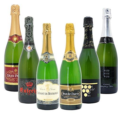 本格シャンパン製法の辛口泡6本セット((W0GAB2SE))(750mlx6本ワインセット)≪第107弾≫