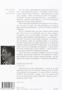 Livres Couvertures de TRAITE DES OBJETS MUSICAUX. Essai interdisciplines