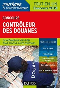 Livres Couvertures de Concours Contrôleur des douanes - Tout-en-un - Concours 2019