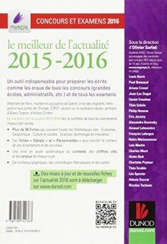 Livres Couvertures de Le meilleur de l'actualité 2015-2016 - Concours et examens 2016