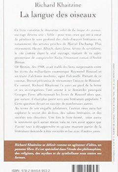 Livres Couvertures de La langue des oiseaux, tome 2 : Georges Perec de l'alchimie du verbe à la permutation des mots