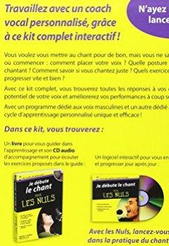 Livres Couvertures de Je débute le chant pour les Nuls - Kit avec logiciel d'apprentissage + CD-audio + Manuel
