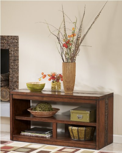 Image of Sofa Table/TV Console in MediumBrown Finish (T675-4)