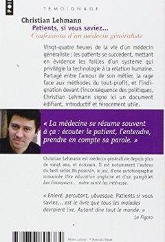 Livres Couvertures de Patients, si vous saviez.... Confessions d'un méde